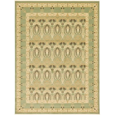 Willow Light Green/Beige Area Rug Rug Size: 5 x 8