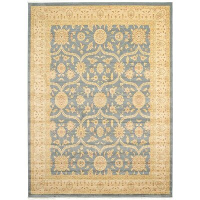 Willow Blue/Beige Area Rug Rug Size: 910 x 13