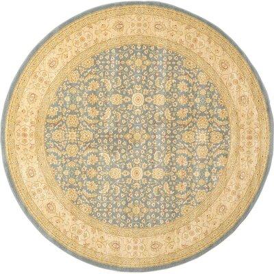 Willow Blue/Beige Area Rug Rug Size: Round 6
