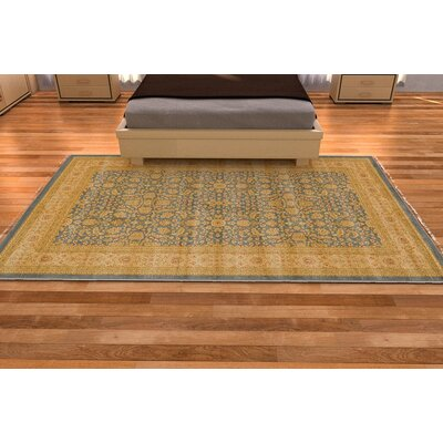 Willow Blue/Beige Area Rug Rug Size: Rectangle 7 x 10