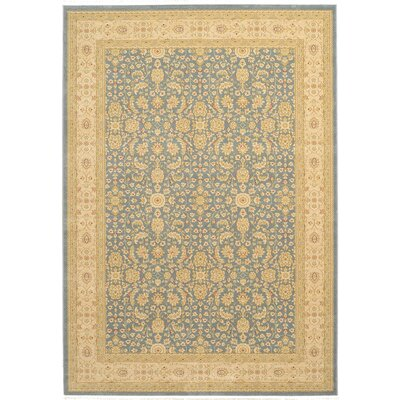 Willow Blue/Beige Area Rug Rug Size: 5 x 8