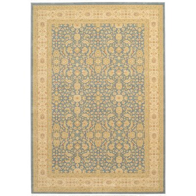Willow Blue/Beige Area Rug Rug Size: 122 x 16