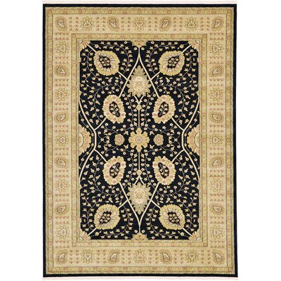 Willow Black Area Rug Rug Size: Rectangle 7 x 10