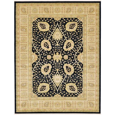 Willow Black Area Rug Rug Size: 9 x 12