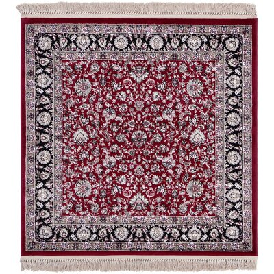 Bakirkoy Red Area Rug Rug Size: Square 4