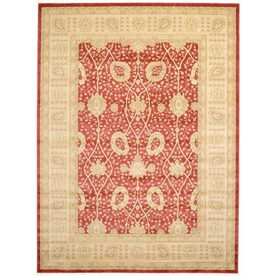 Willow Red Area Rug Rug Size: 82 x 116