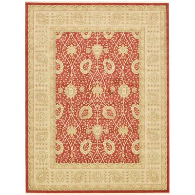 Willow Red Area Rug Rug Size: Rectangle 910 x 13