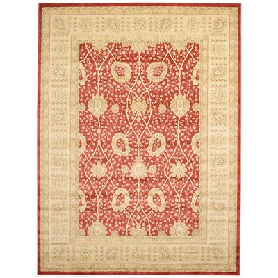 Willow Red Area Rug Rug Size: 8 x 112