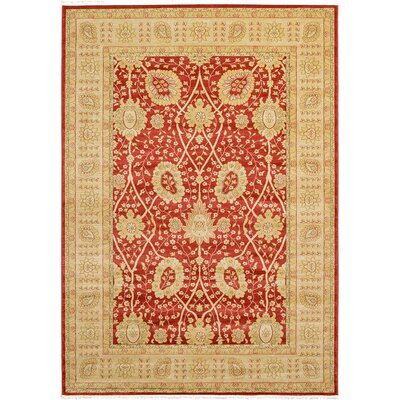 Willow Red Area Rug Rug Size: 5 x 8