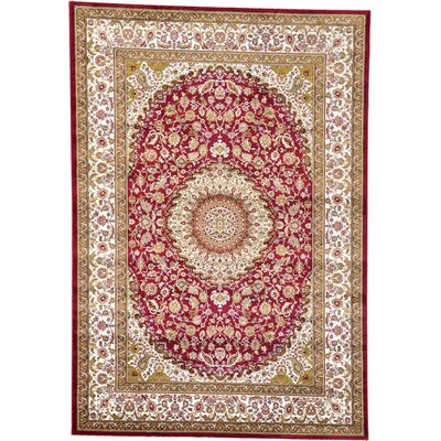 Artesia Red Area Rug Rug Size: 68 x 96