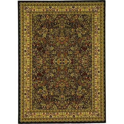 Issil Black Area Rug
