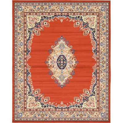 Wyatt Orange Area Rug Rug Size: 8' x 10'