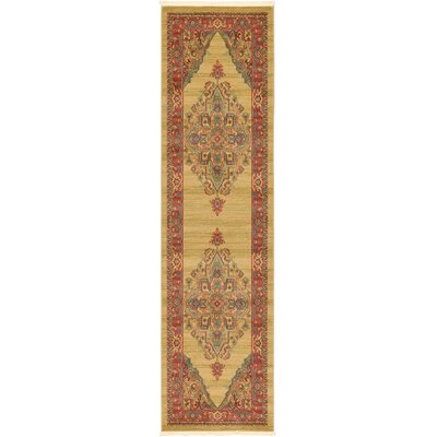 Zoey Light Brown Area Rug Rug Size: 27 x 10