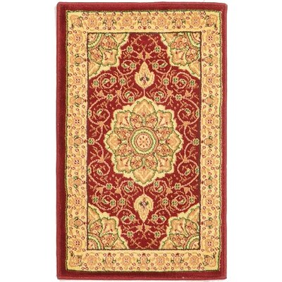 Britain Red/Beige Area Rug