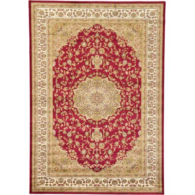Jazlyn Red/Ivory Area Rug