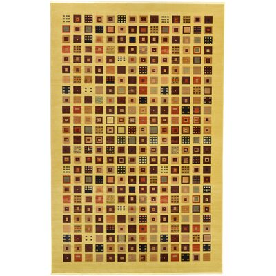 Virginia Beige Area Rug Rug Size: 33 x 53