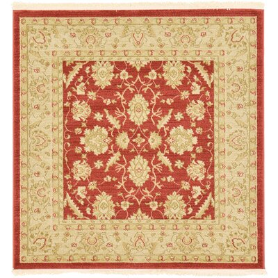 Willow Rust Red Area Rug Rug Size: Square 4