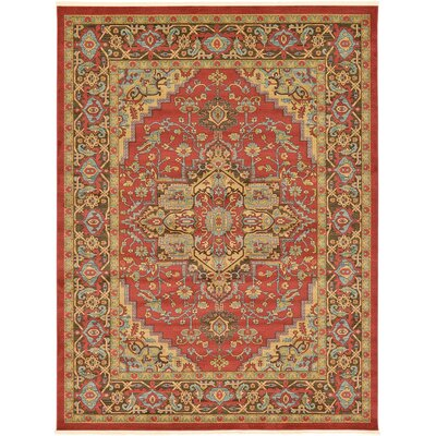 Zoey Red Area Rug Rug Size: Rectangle 9 x 12
