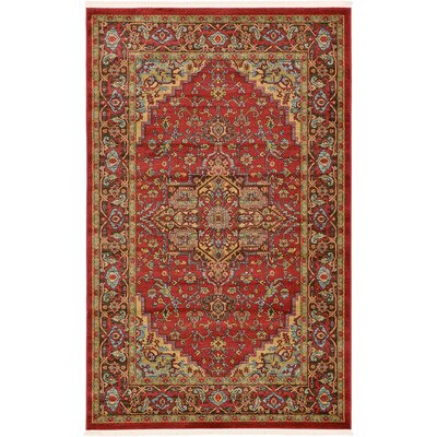 Zoey Red Area Rug Rug Size: 106 x 165
