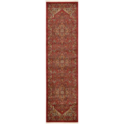 Zoey Red Area Rug Rug Size: Runner 27 x 10