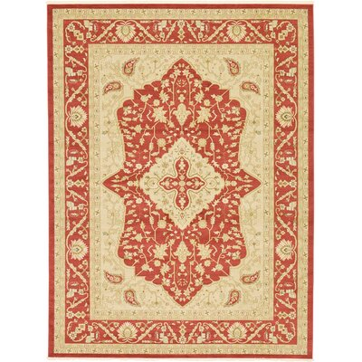 Willow Red Area Rug Rug Size: 9 x 12