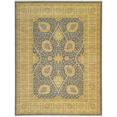 Willow Blue/Green Area Rug Rug Size: 33 x 53
