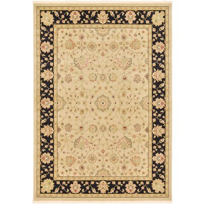 Willow Cream Area Rug Rug Size: 33 x 53