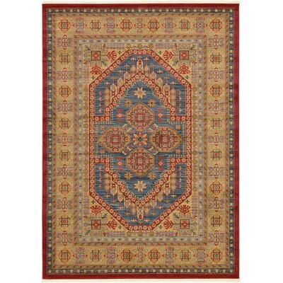 Zoey Navy Blue Area Rug Rug Size: 82 x 116