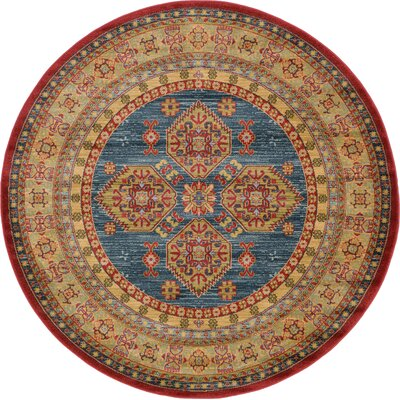 Zoey Navy Blue Area Rug Rug Size: Round 6