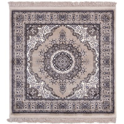 Wyatt Taupe Area Rug Rug Size: Square 4