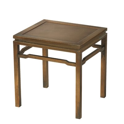 Hathaway End Table Color: Brass