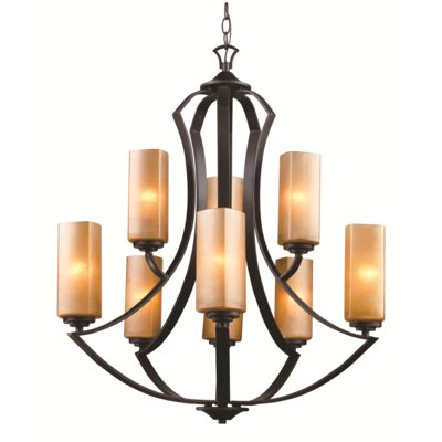 Awrad 9-Light Shaded Chandelier