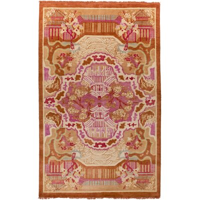 Alois Rust/Pink Area Rug Rug Size: 5 x 8