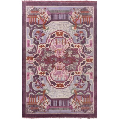 Alois Purple Area Rug Rug Size: Rectangle 5 x 8