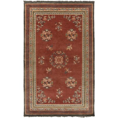 Alois Orange Area Rug Rug Size: 2 x 3