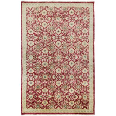Felice Burgundy/Beige Area Rug Rug Size: Rectangle 56 x 86
