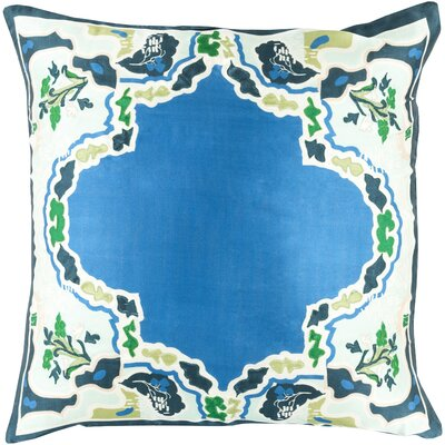 Genie 100% Silk Throw Pillow Cover Color: Bright Blue, Size: 20 H x 20 W x 1 D