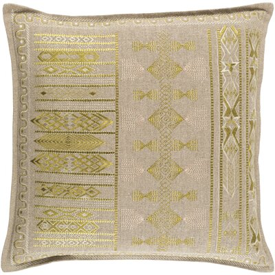 Case Linen Pillow Cover Size: 18 H x 18 W x 1 D, Color: Green