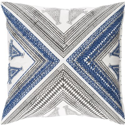 Amorita Throw Pillow Cover Size: 18 H x 18 W x 1 D, Color: Blue/Brown