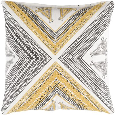 Saba Cotton Throw Pillow Size: 20 H x 20 W x 5 D, Color: Yellow