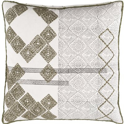 Jasmyn Cotton Throw Pillow Size: 20 H x 20 W x 4 D, Fill Material: Down