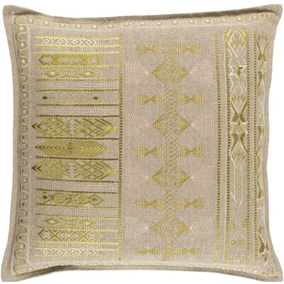 Amethyst Throw Pillow Size: 20 H x 20 W x 4 D, Color: Green, Fill Material: Down