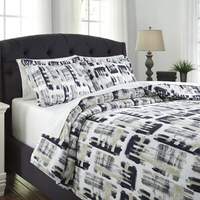 Sherman 3 Piece Duvet Cover Set Size: Queen