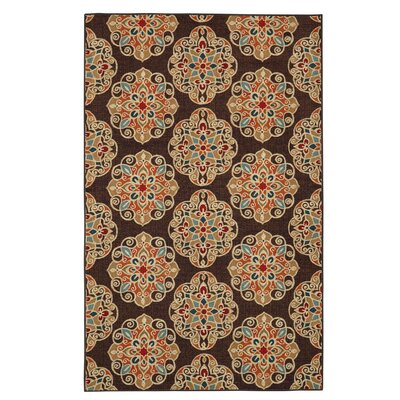 Taren Brown Area Rug Rug Size: Rectangle 5 x 7