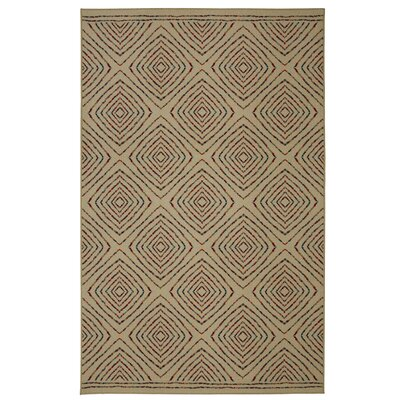 Taren Penny Square Dance Brown Area Rug Rug Size: 5 x 7