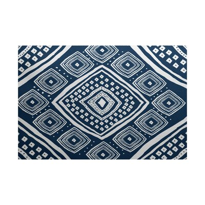 Mercado Blue Indoor/Outdoor Area Rug Rug Size: 4 x 6