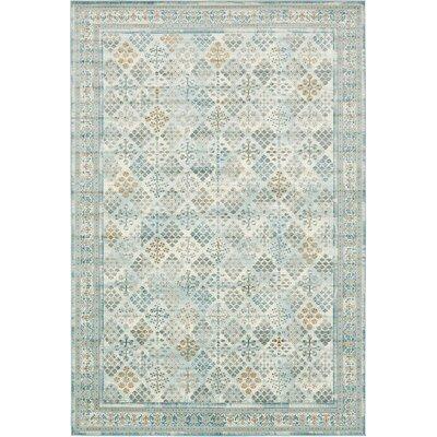 Miara Blue Area Rug Rug Size: 102 x 135