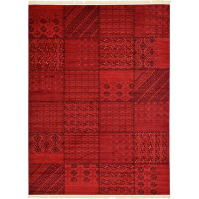 Ivette Red Area Rug Rug Size: Rectangle 9 x 12