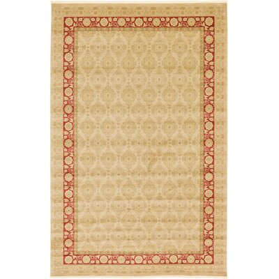 Sebou Cream/Red Area Rug Rug Size: 5 x 8