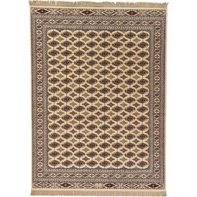 Ivette Cream Area Rug Rug Size: 75 x 102